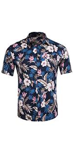 Men's Floral Beach Hawaiian Shirt Shirt