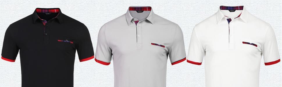 men's plaid collar polo shirt