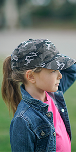 kids baseball cap unconstructed low profile dad hat camo