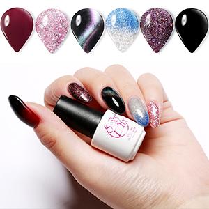 Glitter shiny gel polish