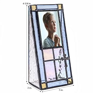 j devlin glass art uncharted visions home decor accents 2x3 stained glass picture photo frame gift