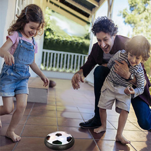 Play hover soccer ball with your kids!