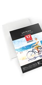 "Expert Watercolor Pad  9x12"", 2 Pack  (140lb/ 300gsm, 64 Sheets Total)"