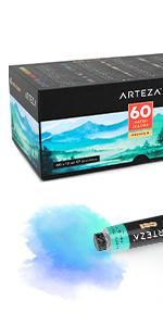 Watercolor Premium Artist Paints Set - 60 Colors (60 x 12 ml)