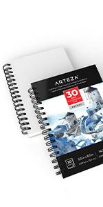 "Expert Watercolor Pad 5.5X8.5"", 3 Pack (140lb/300gsm 90 Sheets Total)"