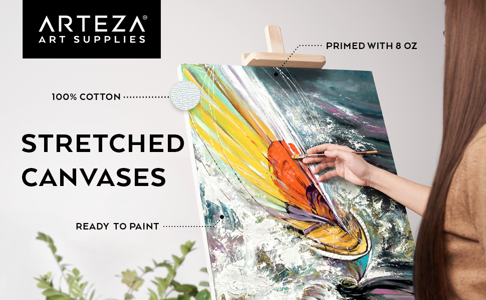 Stretched Canvases Arteza
