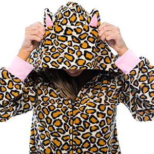 hood hoodie hoody animal print hooded adult onesie cosplay kigurumi all over cheetah leopard cow