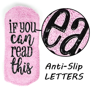 ANTI-SLIP RUBBER LETTERS: And because we know that you tend
