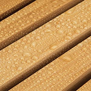 Water-friendly bamboo is a great choice for moisture rich bathroom  environments