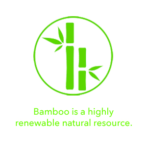 Bamboo is a highly renewable natural resource