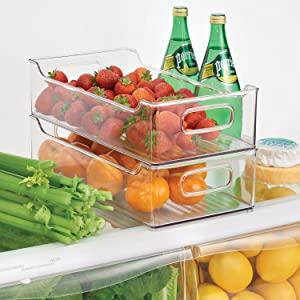Fridge Bin Stacking Options - 2 Level Storage Organizers