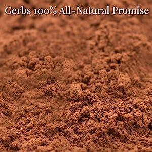 Gerbs dutch cocoa powder, dairy free, non gmo, organic, preservative free.