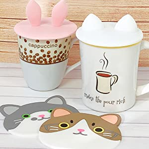 Cup cover, leakproof cup lid, silicon cup lid, silicone cup lid, mug cover, mug lid, drink cover