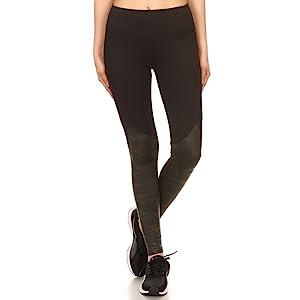 CAMOUFLAGE Print Leggings, Camo Leather Leggings, Faux Leather Leggings, Sports Leggings, Pu Legging