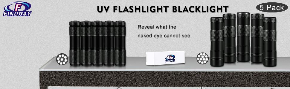 FINDWAY UV FLASHLIGHT BLACKLIGHT