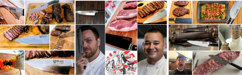 celebrity chefs, knife set, Japanese knives, steak knife, damascus stainless steel, gyuto, sharp