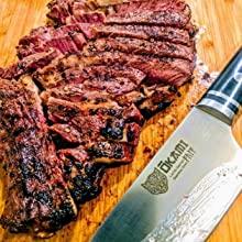 steak knife, meat knife, slicing knife, chef's knives, kitchen knife, okami