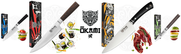 kitchen knives, okami knives, chef knife, stainless steel