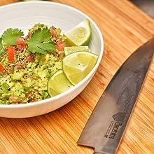 damascus steel, japanese knife, chef knife, gyuto, okami, sushi knife, sashimi knife