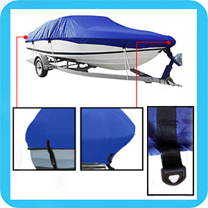 IC ICLOVER Boat Cover Front Back Detail and Fastening  Buckle