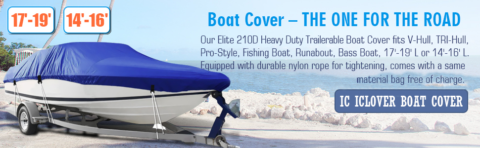 IC ICLOVER Boat Cover - The One for The Road