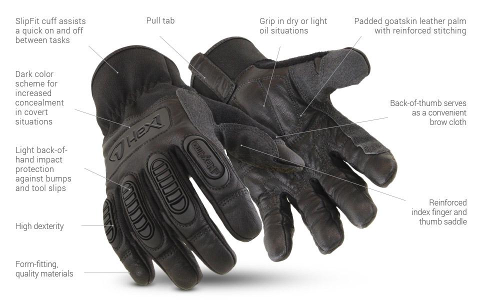 hex1 2125 glove features