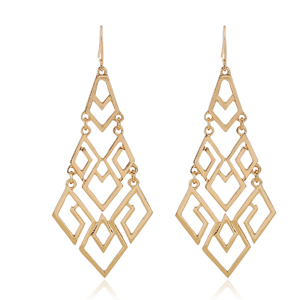 Fashion Gold Chandelier Dangle Drop Earrings for Women