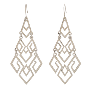 Trendy Silver Chandelier Dangle Drop Earrings for Women