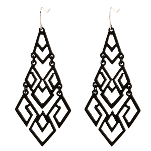 Bohemian Black Chandelier Dangle Drop Earrings for Women