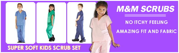 kids scrub set