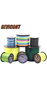 1500M 2000M Gevicont Braided Fishing Line