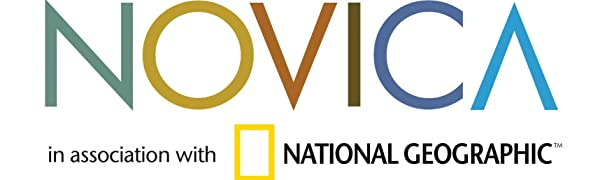 NOVICA in association with National Geographic Logo